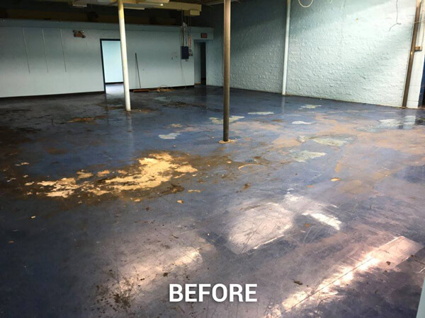 Tile Floor Stripping and Re-finishing